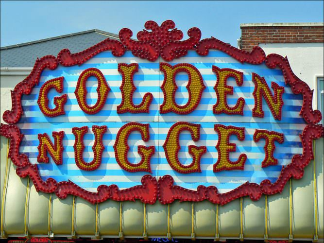 Golden Nugget on Great Yarmouth Sea Front, Norfolk.