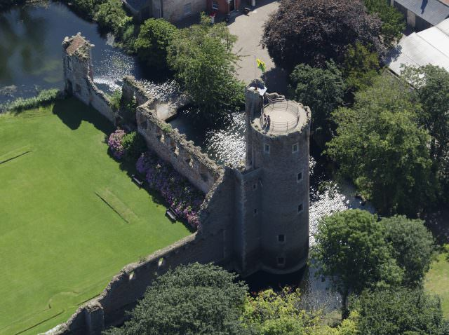 aerial view of Caister Castle