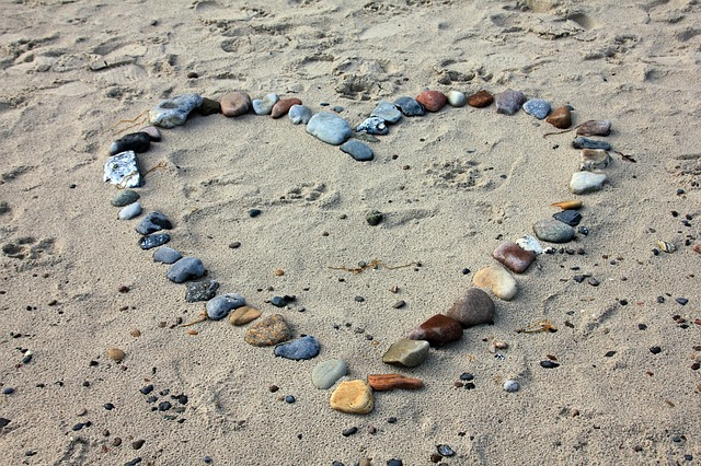 Valentine's Day - Beach heart
