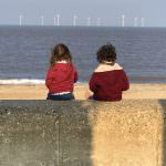 Children on Caister Beach